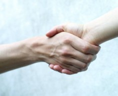 People use handshakes to sniff each other out